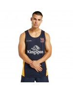 Men's Ulster Rugby Technical Athletic Fit Gym Vest - Navy/Amber (2021-2022)