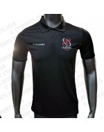 Men's Ulster Rugby Performance Athletic Fit Polo - Black (2018-2019)