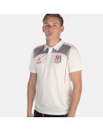 Men's Ulster Rugby Performance Athletic Fit Polo - White (2017-2018)