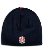 England Rugby Acrylic Plain Beanie 2016-2017 (Graphite-Navy)