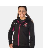 Women's Ulster Rugby Blast Fleece Hoodie - Black/Hot Pink (2017-2018)