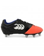 Phoenix Club 8 Stud Rugby Boot (Black/Firecracker)
