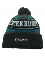 Ulster Rugby Bobble Hat - Charcoal/ Charcoal Bobble (2019-2020)