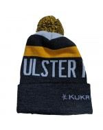 Ulster Rugby Yellow Thick Strip Bobble - Bobble Hat (2020-2021)