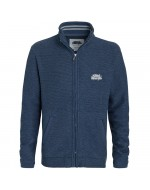 Full Zip Macaroni Sweatshirt (Ensign Blue) Larger Sizes