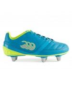 Kid's Phoenix Club 6 Stud Rugby Boot (Atomic Blue/Safety Yellow)