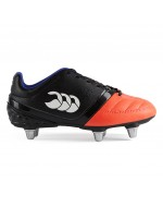 Kid's Phoenix Club 6 Stud Rugby Boot (Black/Firecracker)