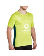 Ireland Rugby Vapodri Superlight Poly Tee - Lime Punch (2017-2018)